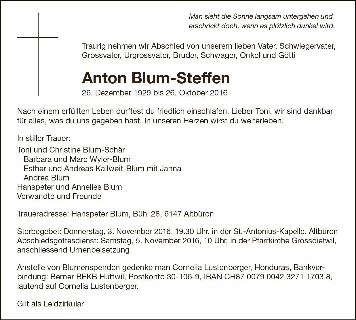 Anton Blum Steffen Willisauer Bote